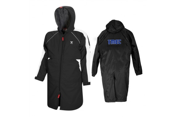 Team Parka by TYR in Black with Back Lettering