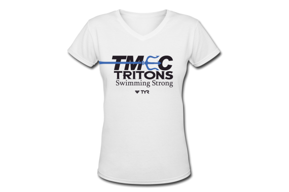 TMEC Women Team V-neck Shirt in White