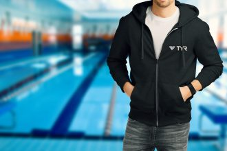 TMEC Zip-up Sweatshirt in Black
