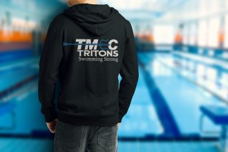 Black pull over hoodie w/ new team logo