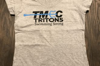 TMEC Women V-Neck Team Shirt in Sports Grey